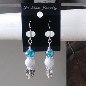 Handmade Howlite Earrings